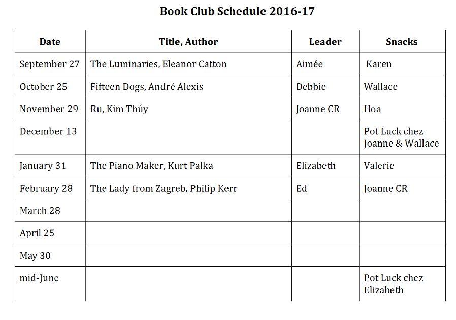 Book Club-Monique Corriveau Library @ Monique Corriveau Library