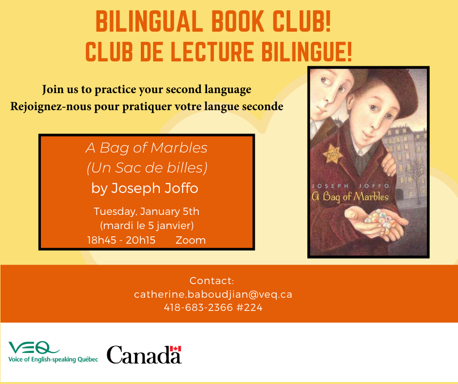Bilingual Book Club – Club de lecture bilingue @ Virtual meeting via Zoom