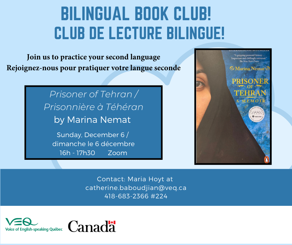 Bilingual Book Club – Club de lecture bilingue @ Virtual meeting via Zoom